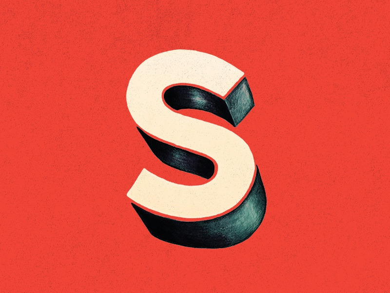 S s typography lettering type 3d