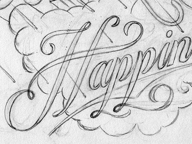 Sketches typography lettering sketch