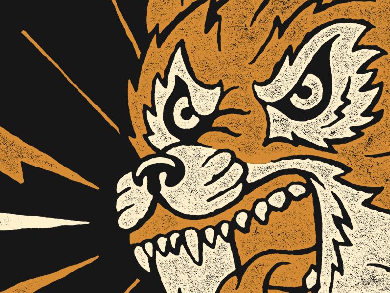 Angry Eyes illustration dog wolf