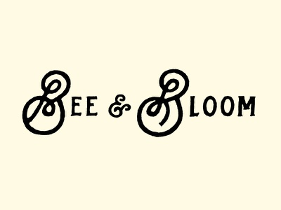 The Bees Knees branding lettering logo logotype typography