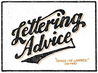Lettering Advice