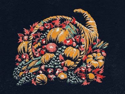 The Bundle illustration acrylic cornucopia thanksgiving