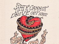 Hate cannot drive out hate