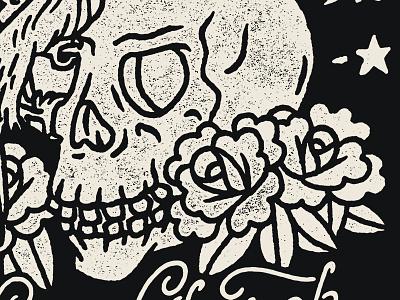 Skulls N Roses illustration skull rose bird