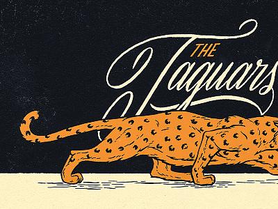 The Jaguars cat jaguar lettering illustration