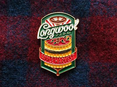 Longwool Pin cider harvest apple farm pin enamel badge illustration