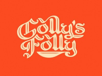 Golly's Folly childrens book title lettering