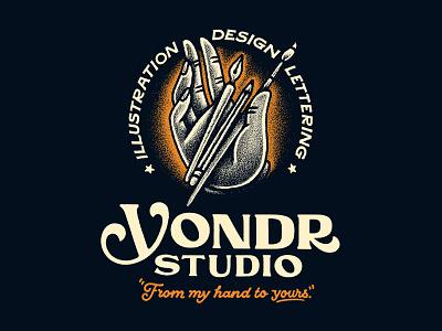 Yondr Studio script art paint brush pencil pen hand hand lettering lettering illustration