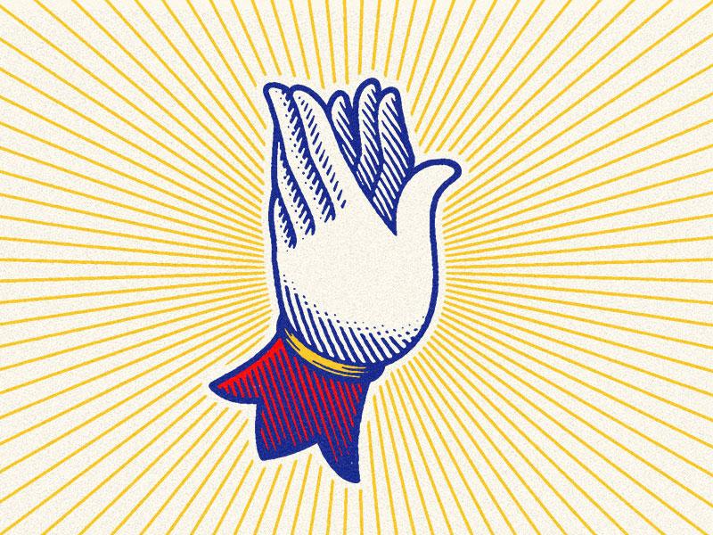 Dove Hands engraving scratchboard gesture dove bird magic magician hand hands logomark mark branding logo illustration