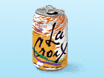 La Croix editorial product can hand drawn pen ink pen and ink
