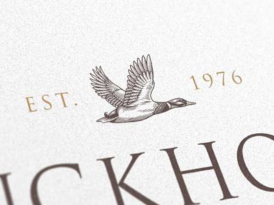 Duckhorn Wine Company flying engraving scratchboard illustration bird icon branding duck graphic mark logo mark logomark