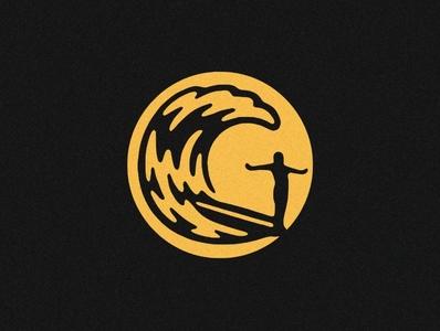 Surf surfer waves wave sun surfing longboard surf design logomarks logomark mark logo