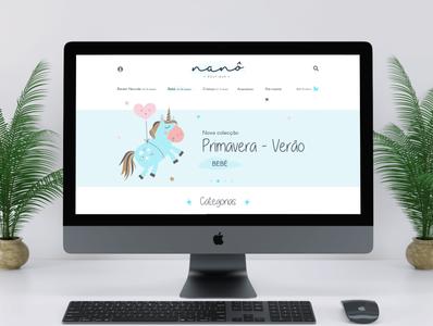 Nanô - Online store web illustration brand logo ux ui design