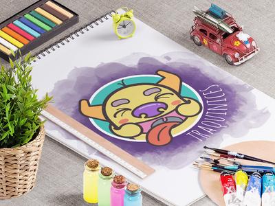 Traquinices Logo prankish smile colorful logo identity branding monster