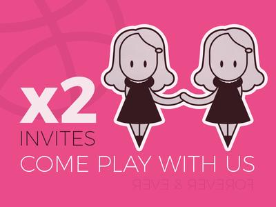 Invites play shining twins invites dribbble