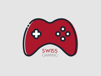 Swiss Gaming - Logo / Brand Design logo design videogame vector player gaming gamer gamepad game flat controller console brand