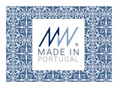 Made in - Logo / Brand Design tile traditional blue vector design logo flat brand