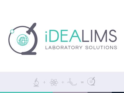 iDEALIMS - Logo / Brand Design lims vector lab logo flat design brand