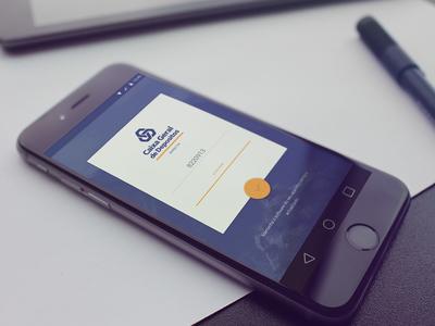 CGD - Caixa Directa - App redesign ux ui design material login bank app cgd