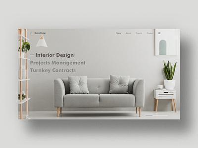 Website Concept for Interior Design Website web ui wordpressdeveloper uxdesign ux uidesign mockup minimal conceptdesign adobexd