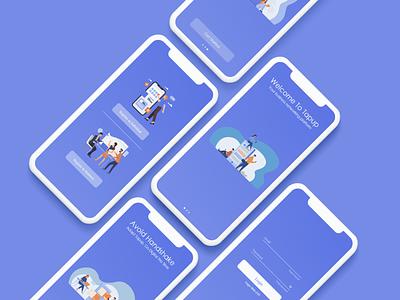 walkthrough design app ui minimal ux uxdesign uidesign mockup conceptdesign adobexd