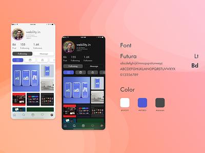 Instagram Profile Concept dailyui design mockup minimal uxdesign ux uidesign conceptdesign adobexd