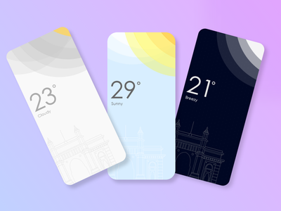 Weather App Concept UI design minimal ux uxdesign uidesign conceptdesign adobexd