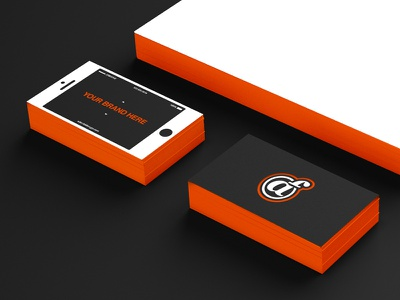 New personal business cards print branding vector letterpress mobile graphic design business cards