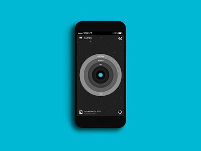 NASA / Google Time Travel App iOS google vector android interface ui ux flat design ui design material design