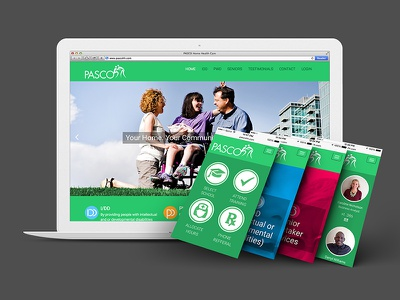 PASCO Responsive Website interface interaction design branding iconography vector ux ui mobile responsive