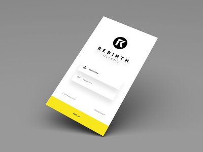 Rebirth Creative // Client Log-In android ios design product ux ui svg pixate sketch