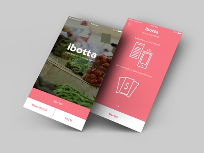 ibotta - walkthrough / on-boarding iphone ios product design ux ui prototype flinto sketch
