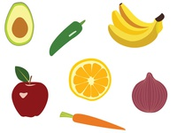 Fruit & Veggie Pattern