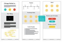 Chicago Market Webpage Mockups