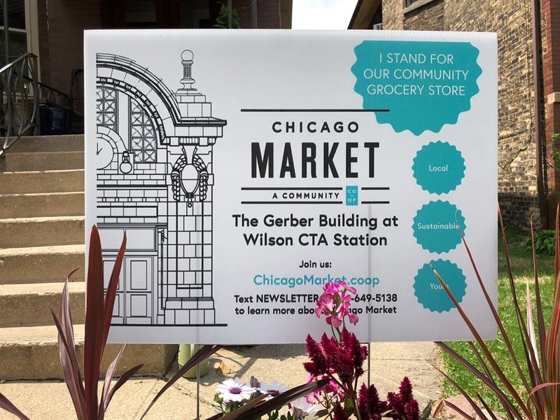 Chicago Market Yard Sign marketing advertising