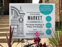 Chicago Market Yard Sign