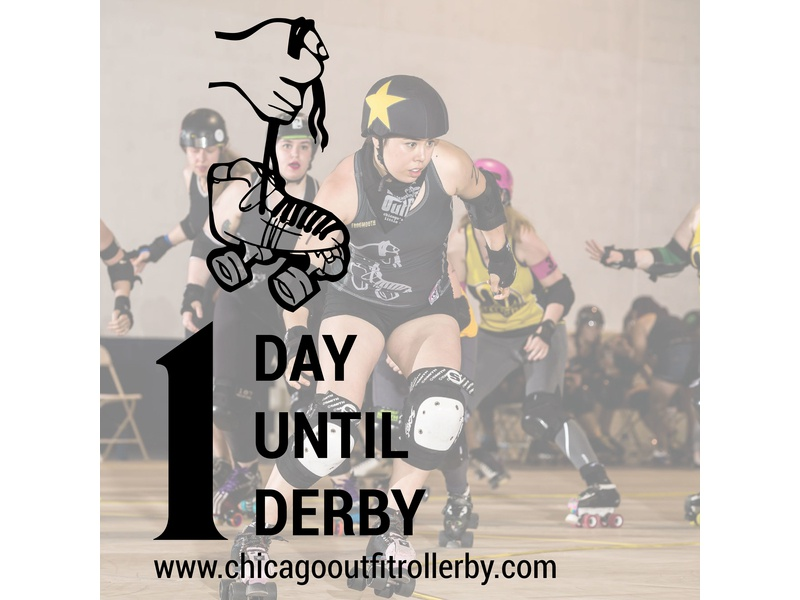 Bout Day Countdown photography graphics social media roller derby