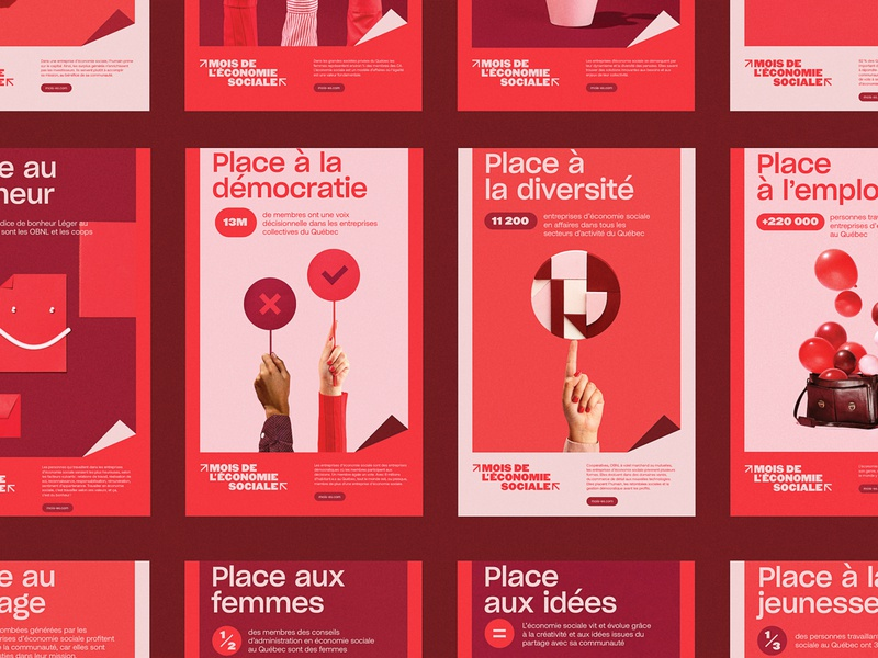 Mois de l'économie sociale  - Posters creativity ideas money cake work hands coop cooperation social economy economy democracy poster design social poster poster