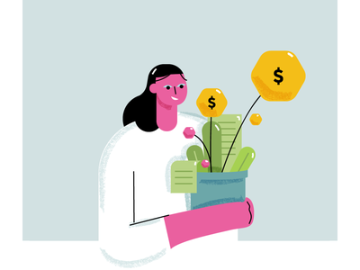 From the archives 1 minimal illustration geometric illustration geometric growing growth money illustration design illustration
