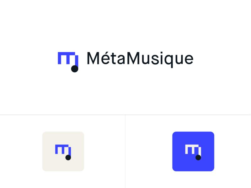 MetaMusique - Logo m lettermark monogram design branding music logo