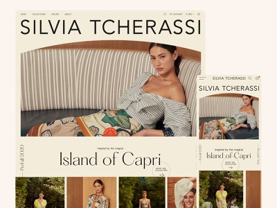 Silvia Tcherassi - Homepage exploration beauty website concept homepage ecommerce photography tropical demi-couture couture highend webdesign fashion website