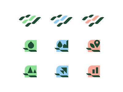Brand and sub-brand exploration institutional nature forest landscape city brand icon symbol sub-brand logodesign graphic design branding logo