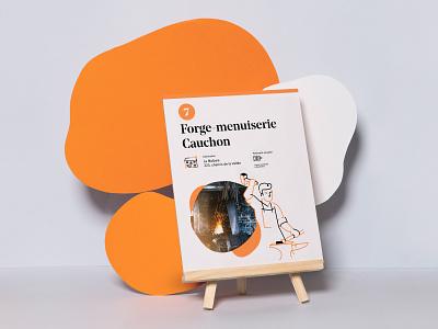Circuit des 7 lieux - Poster minimal metallurgy metal poster branding illustration logo print tourism
