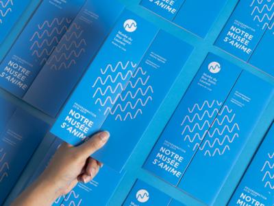 MBSL-Brochure retro logo branding museum brochure ocean river mouvement texture art