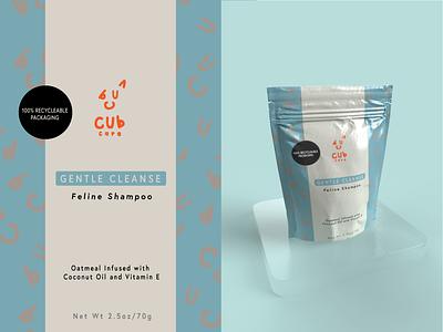 Cub Care Shampoo Packaging vector illustration creative design design graphic design logo package brand branding
