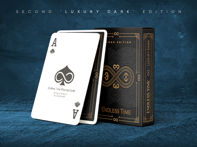 Endless Time Playing Cards - Second 'Luxury Dark' Edition. bycicle theory11 quality print branding luxury card poker cards playing cards