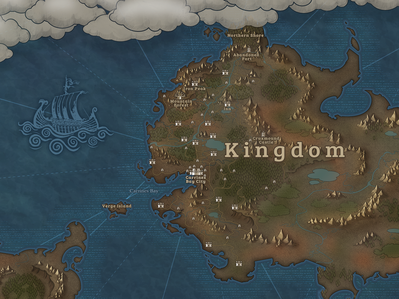 Fantasy Map for Shores Unknown RPG (Switch) old kingdom roleplay 2020 game game art pc switch maps fantasy rpg map