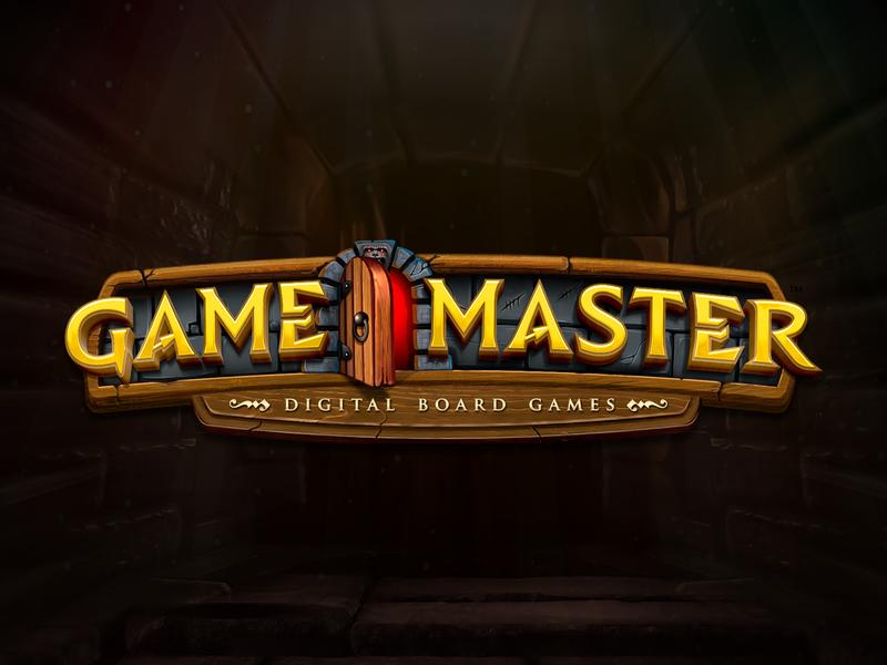 Game Master Logotype kickstarter branding pen and paper dragons dungeons dd board game rpg game fantasy logotype