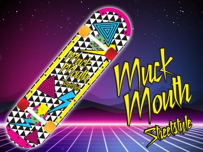 80s Street Style Graphic for Muckmouth muckmouth skateboarding graphic design art direction typography