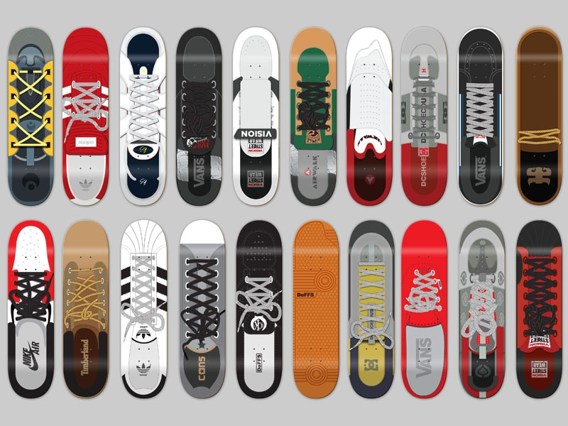 Skate Shoe boards art direction graphic design skateboard design skateboard graphics